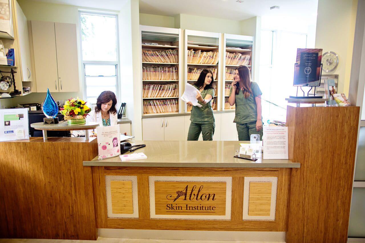 Ablon Skin Institute & Research Center Receiption area